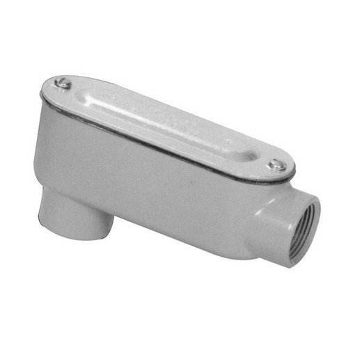 Morris 14054 Rigid Conduit Body, Aluminum, Type LB, Threaded with Cover and Gasket, 1-1/2 Thread Size by Morris
