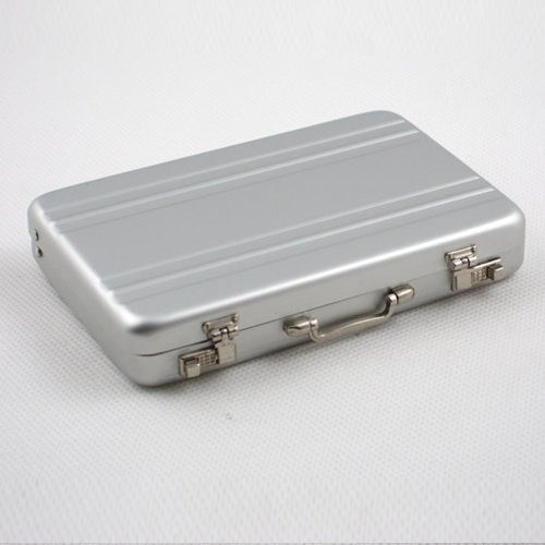 1 X Hot Mini Briefcase Business Card Case Coin Case Aluminium Credit Card Holder