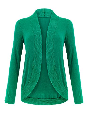 Spicy Sandia Cocoon Knit Cardigans for Women Slim Long Sleeve Open-Front Cozy Black Cardigan Sweaters, Green, Small