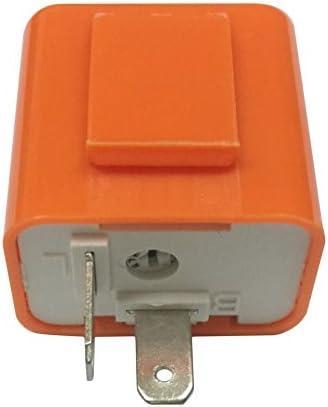 Swiftswan 2-poliger Geschwindigkeit, Einstellbare LED-Anzeige, wasserdicht, Blinkrelais, Widerstand (Farbe: orange)
