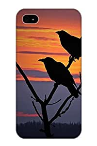 Appearance Snap-on Case Designed For Iphone 4/4s- 2 Ravens(best Gifts For Lovers)