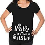 Awkward Styles Baby It`s Cold Outside Pregnancy Announcement Maternity T Shirt Hilarious Gift Baby Shower Black M