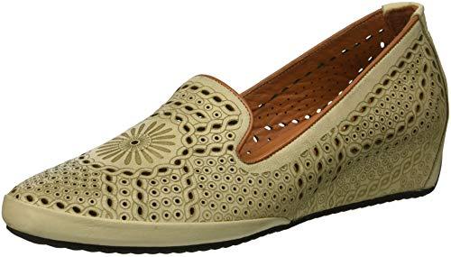 Donne Primavera Delle on Scarpe Slip Grigio In Stile Shondra Chiaro Passo Pelle wqxIZTA4g