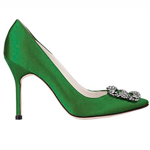 EKS - Zapatos de Tacón Mujer Verde