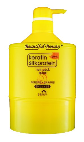 Man with Flowers Keratin Silkprotein Hair Pack 1000ml