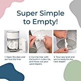 Dekor Classic Hands-Free Diaper Pail | Gray
