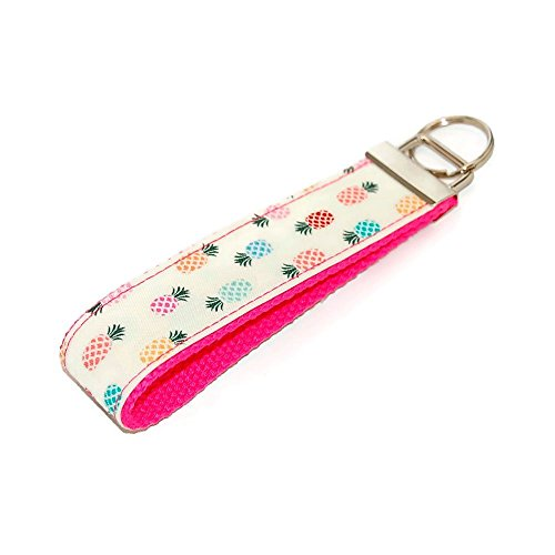 Pineapple Keychain Multi Colored Fabric Key Fob Free Shipping
