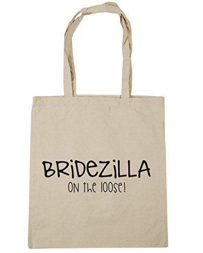 On 10 42cm Beach Gym The Bag x38cm Loose Natural Tote litres Bridezilla Shopping HippoWarehouse 5RqPHw