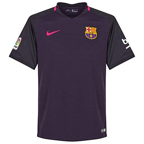 Nike Men's Barcelona 2016/2017 Away Soccer Jersey (Purple) Medium