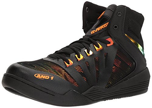 AND1 Men's Overdrive Basketball Shoe, Black/Iridescent, used for sale  Delivered anywhere in Canada