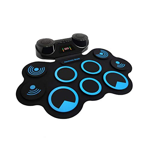 LVSSY Silicone Portable Foldable Digital USB Midi Roll-Up Electronic Drum Pad Kit with Drumsticks and Sustain Pedal Hot