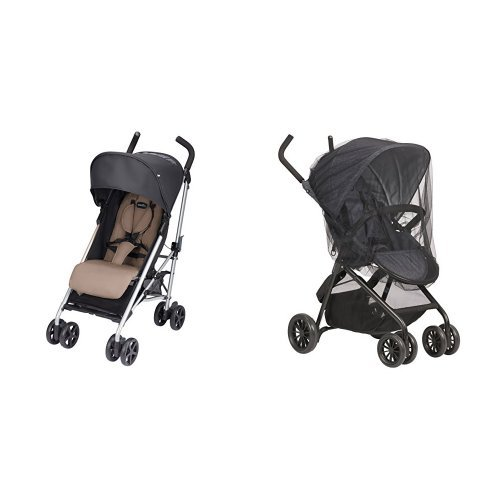 Evenflo Minno Lightweight Stroller, Mochaccino Brown with Stroller Insect Netting