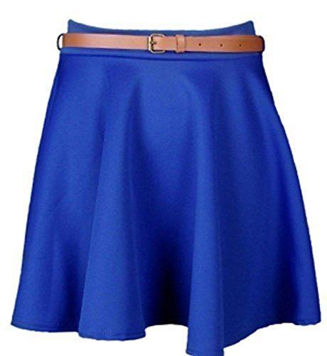 Bleu Patineuse Fashions Roi Ceinture Avec Jupe Femme Evasée Extensible Courte Taille Topnotch AqdwvE4A