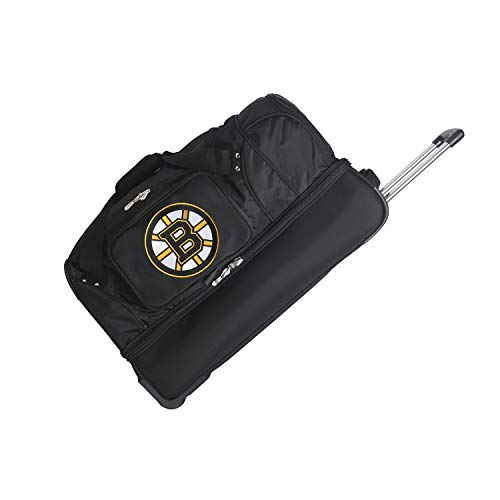 NHL Boston Bruins Rolling Drop-Bottom Duffel Bag, 27-inches