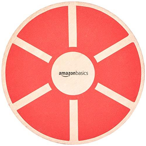 Basic Balance - AmazonBasics Wood Wobble Balance Board, Red