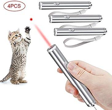 Faburo 4 Piezas Juguetes Gatos, Juguetes interactivos para Gatos, 2 en 1 Función Mascota Gato Captura Juguetes de Entrenamiento (Baterías no Incluidas): Amazon.es: Productos para mascotas