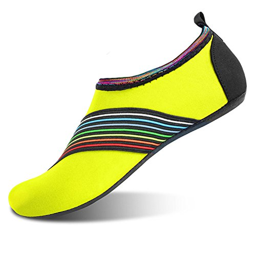 JOINFREE Damen Herren Kid Sommer Wasser Schuhe Barfuß Schuh Quick Dry Aqua Socken Yoga Bevel Grün