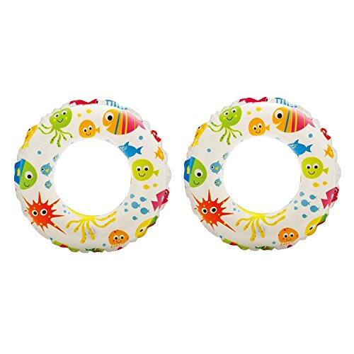 Intex - Recreation Lively Print Swim Ring , Summer Fun (Pack of 2 Assorted)