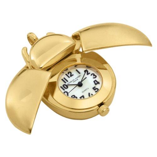 Charles-Hubert, Paris Women's 6422 Gold-Plated Quartz Pendant Watch