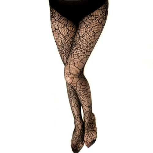 LOCOMO Women Black Spider Web Net Pantyhose Hosiery Fishnet Stocking FFT120