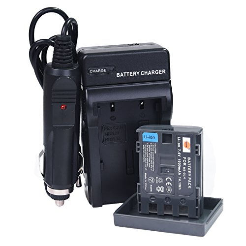 DSTE® NB-2LH Battery + DC18 Travel and Car Charger Adapter for Canon Elura 85 90 MV800 800i 900 920 EOS 350D 400D PowerShot G7 G9 S70 S80 R100 R11 Camera as NB-2L BP-2LH