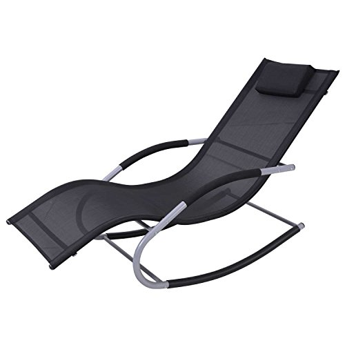 aCompatible Chaise Rocker Patio Lounge Chairs Outdoor Recliner Pool Chaise Swing W/Pillows Review
