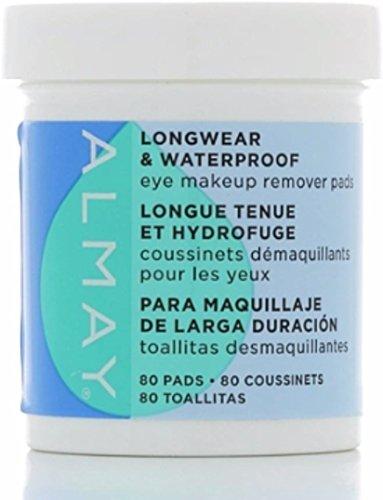 Almay Longwear and Waterproof Eye Makeup Remover Pads, 80 Count (Pack of 3) Almay Waterproof Makeup Remover