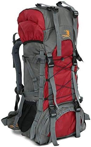 サイクリングバックパック 撥水登山用バックパック60L男性用女性ハイキングバッグ - 軽量防雨性に優れた登山用登山用登山用 (Color : Red, Size : 32*20*74CM)