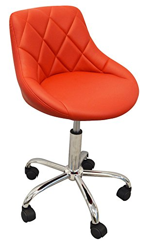 DevLon NorthWest Salon Nail Pedicure Manicure Medical Adjustable Swivel Rolling Stool Red