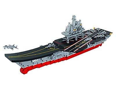 Sluban SlubanM38-B0399 Aircraft Carrier Building Bricks Set