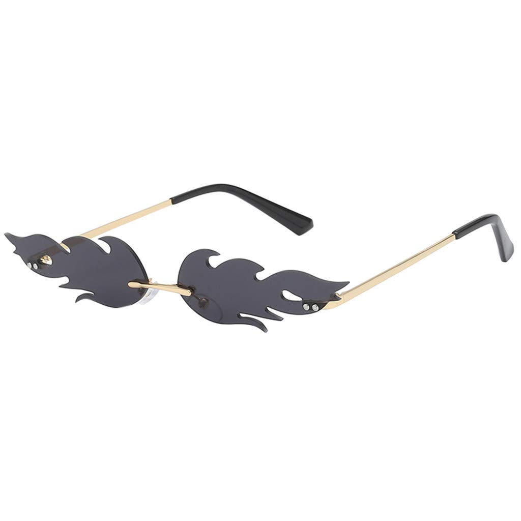 Haluoo Small Frame Sunglasses Creative Irregular Shape Sun Glasses Vintage Retro Steampunk Shield Shades for Women Men