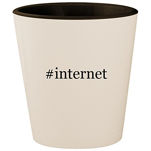 Price comparison product image #internet - Hashtag White Outer & Black Inner Ceramic 1.5oz Shot Glass