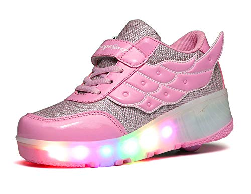 led Shoes Colorful LED Children's Luminous Skates(,Purple,38)