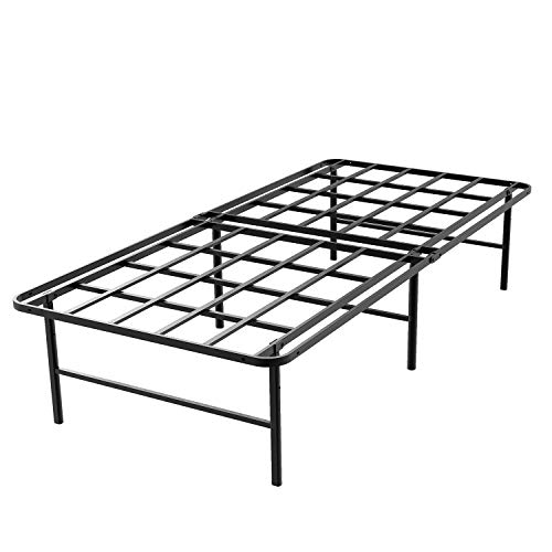 45MinST 16 Inch Tall SmartBase Mattress Foundation/Platform Bed Frame/3000LBS Heavy Duty/Extremely Easy Assembly/Box Spring Replacement/Quiet Noise-Free, Twin XL/Full/Queen/King/Cal King (Twin XL)