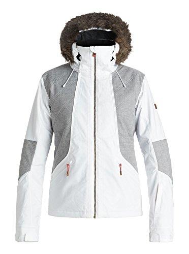 Roxy SNOW Junior's Atmosphere Slim Fit Snow Jacket, Bright White, XL