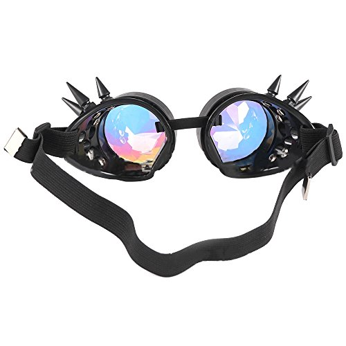Gafas de Gafas Beige Festival sol Gafas Gafas facetadaspaseo sol de de facetadas de de Música caleidoscopio Paseo mosaico HIqf1