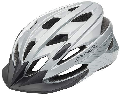 (Louis Garneau Eagle Lightweight, Adjustable, CPSC Safety Certified Bike Helmet for Men and Women, Gray (2019))