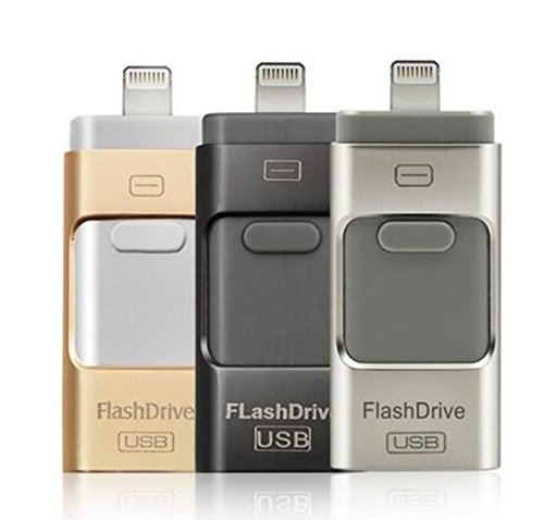 128GB 64G OTG USB Flash Memory Drive U Disk pendrive for Android/iOS iPhone MAC (128GB Black) (Transmission Manual Mfi)