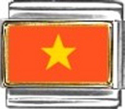 Vietnam Photo Flag Italian Charm Bracelet Jewelry - New Italian Charm Photo 9mm