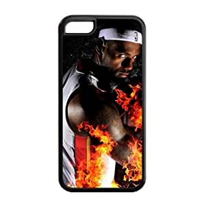 Miami Heat LeBron James Image Theme Back TPU Case for iPhone 5C-by Allthingsbasketball