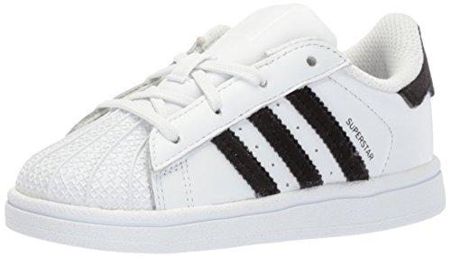 adidas Originals Baby Superstar I, White/Black/White, 10 M US ()