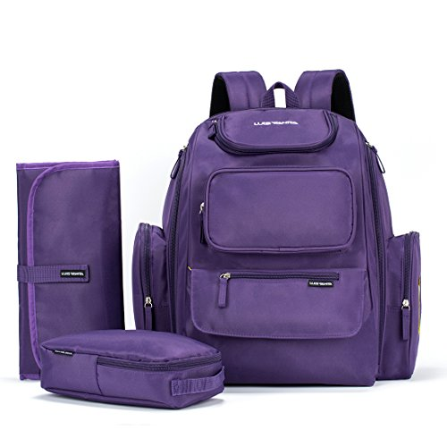 luisvanita-diaper-bag-backpack-w-stroller-straps-and-changing-mat-and-organizer-pouch-outdoor