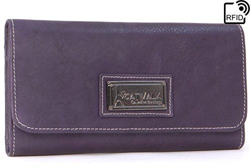 En Signé Cuir Collection Rfid Gemma Cadeau Porte Boîte monnaie Violet Catwalk EaqZWI