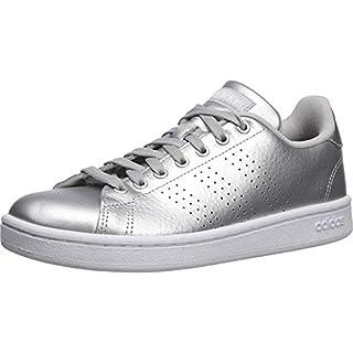 adidas Women's Cloudfoam Advantage Cl Sneaker, Matte Silver/White/Grey, 5.5 M US