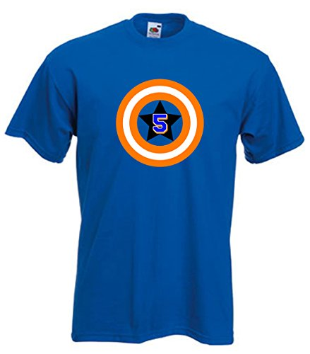 "The Silo BLUE New York David Wright ""Captain America"" T-Shirt YOUTH"