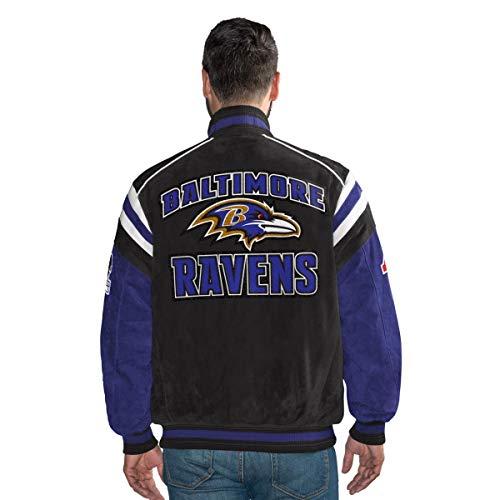 G III Baltimore Ravens Suede Leather Jacket NFL - L