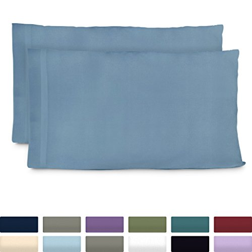 Cosy House Collection Premium Bamboo Pillowcases - King, Baby Blue Pillow Case Set of 2 - Ultra Soft & Cool Hypoallergenic Blend from Natural Bamboo Fiber