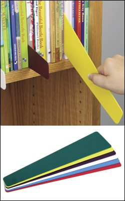 Library Shelf Markers - Assorted Colors 6/pkg