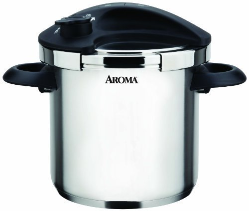 Aroma Housewares APC-600S Stainless Steel Pressure Cooker, 5-Liter by Aroma Housewares