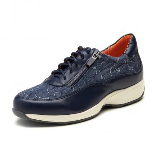 Kanana project (サイズ:23.5cm) カナナプロジェクト ウォーキングシューズ KN3110-505 あるく ネイビー レースアップ ミドルヒール スニーカー レディース 靴 お取り寄せ商品